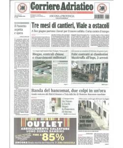 Corriere Adriatico quotidiano di Giovedì 9 Giugno 2016
