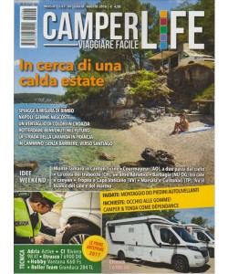 CAMPERLIFE. VIAGGIARE FACILE. N. 43 - 44. LUGLIO /AGOSTO 2016. MENSILE.
