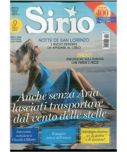 "SIRIO - Mensile n. 400 - Agosto 2016 ""Notte di San Lorenzo"""