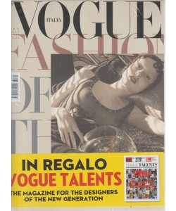 VOGUE. N. 793. MENSILE SETTEMBRE 2016.. IN REGALO VOGUE TALENTS. THE MAGAZINE FOR THE DESIGNERS OF THE NEW GENERATION