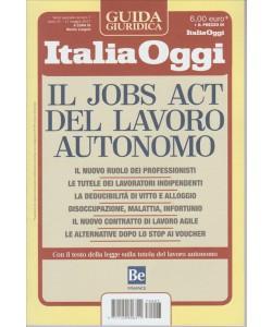 il Jobs Act del lavoro autonomo - Guida Italia Oggi - n. 7 - 17 maggio 2017