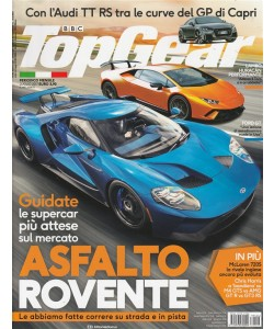 """Top Gear - mensile n. 116 Luglio 2017 """"Audi TT RS al GP di Capri"""