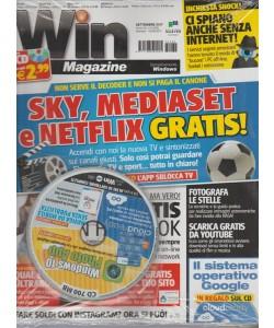 Win Magazine Base c/CD - mensile n.235 Settembre 2017 Sky, Mediaset e Netflix