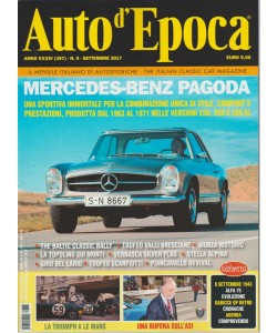 Auto d'epoca - mensile n. 9 settembre 2017 - Mercedes-Benz Pagoda