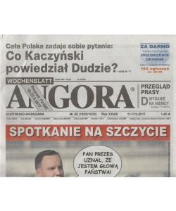 Angora - settimanale in lingua polacca n. 38 (1422) - 11 settembre 2017