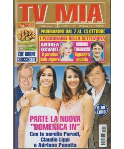 """Tv Mia - settimanale pocket n.40 -10 ottobre 2017 - Parte la nuova """"Domenica IN"""""""