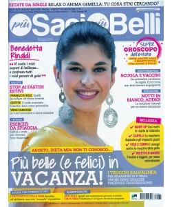Più Sani Più Belli Magazine - mensile n.8 (80) - Agosto 2017 - Benedetta Rinaldi