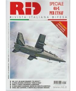 RID - Rivista italiana Difesa - mensile n. 11 Novembre 2017 speciale OA-X per l'USAF