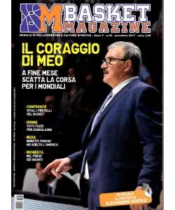 Basket Magazine - mensile n.40 Novembre 2017 -regalo poster Alessandro Gentile