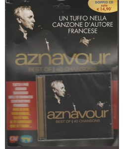 Doppio CD - Aznavour: Best Of - 40 Chansons by Sorrisi e Canzoni TV