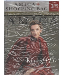 "Amica - mensile n. 8 Agosto 2017 "" Kind of Red "" + Shopping bag"