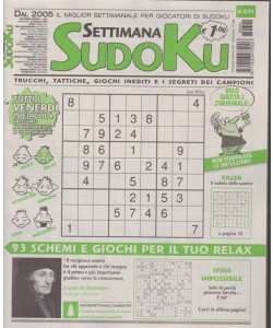 Settimana Sudoku - n. 691 - settimanale - novembre 2018 -