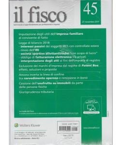 Il Fisco - settimanale n. 45 - 27 Novembre 2017 - Patent Box