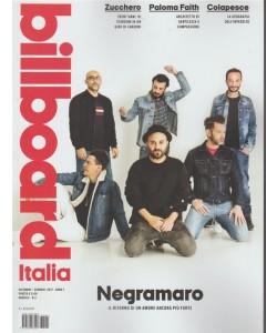 Billboard Italia - mensile n.2 Dicembre 2017 - Negramaro il ritorno di un amore