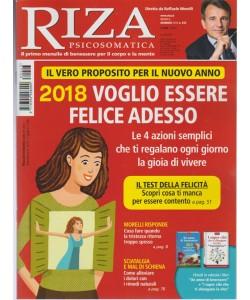 """RIZA Psicosomatica -Mensile n.443 Gennaio 2018""""2018 Voglio Essere felice adesso"""""""