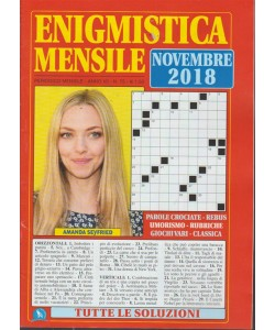 Enigmistica  Mensile - n. 75 - mensile - novembre 2018 -