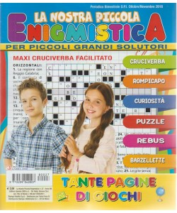 La Nostra Piccola Enigmistica - n. 27 - bimestrale - ottobre - novembre 2018 -