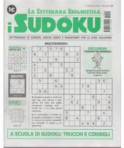 La settimana enigmistica - I sudoku - n. 12 - 11 ottobre 2018 - settimanale