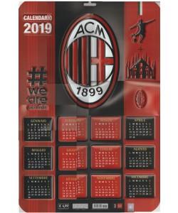 Calendario Ac Milan.Calendario 3d 2019 A C Milan Cm 37 X 55 Da Parete