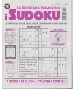 La settimana enigmistica - I sudoku - n. 15 - 1 novembre 2018 -