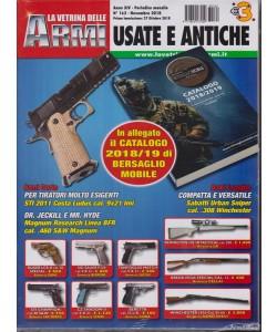 La Vetrina Delle Armi usate e antiche + in allegato il catalogo 2018/19 di Bersaglio mobile - mensile - n. 162 - novembre 2018 -