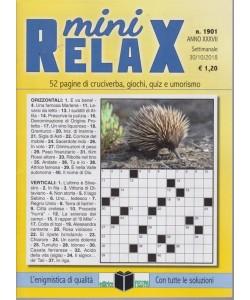 Mini Relax - n. 1901 - settimanale - 30/10/2018 -