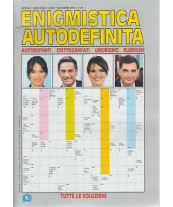 Enigmistica Autodefinita - n. 345 - mensile - novembre 2018 -