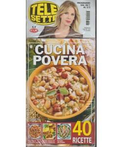 Telesette -settimanale pocket n.5 - 28 Gennaio 2018+ libro: Cucina povera pocket