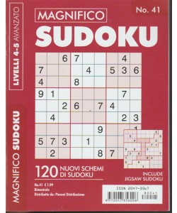 Magnifico Sudoku - bimestrale n. 41 Marzo 2018 - LIvello 4-5 avanzato