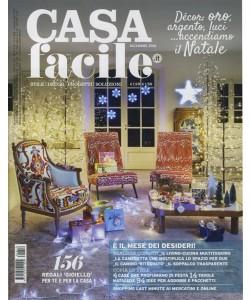"""Casa Facile - mensile n. 12 Dicembre 2016 """"Decor oro argento luci... accendiamo il Natale"""""""