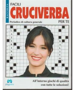 Raccolta Facili cruciverba per te-bimestrale n.2- Febbraio 2018- Caterina Balivo