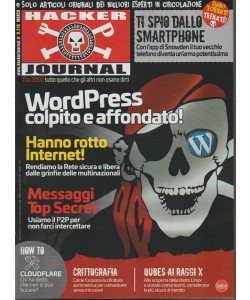 Hacker Journal - mensile n. 218 marzo 2018 WordPress colpito e affondato!