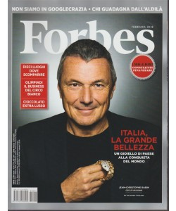 Forbes - mensile n. 4 Febbraio 2018 Jean-Christophe Babin CEO di Bugari