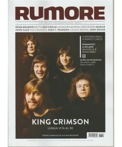 Rumore - mensile n. 315 Aprile 2018 King Crimson: lunga vita al Re