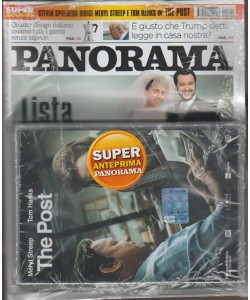 "Panorama - Settimanale n. 22(2712) 17 maggio 2018 + Dvd ""The Post"""