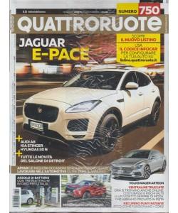 Quattroruote - mensile n. 750 Febbraio 2018 Jaguar E-Pace