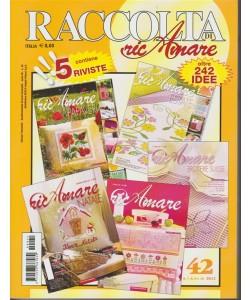 """Raccolta di Ricamare - quadrimetrale n. 42 Febbraio 2018 """"Contiene 5 riviste"""""""