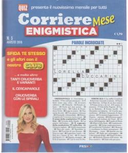 Corriere enigmistica mese - n. 3 - agosto 2018 - mensile