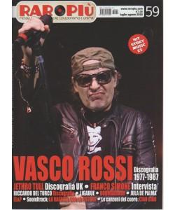 Raropiu' - Vasco Rossi - Luglio - agosto 2018 - n. 59 - mensile