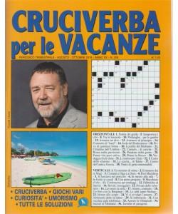 Cruciverba Per Le Vacanze - n. 209 - trimestrale - agosto - otobre 2018