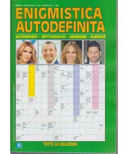 Enigmistica Autodefinia - mensile - n. 342 - agosto 2018 -