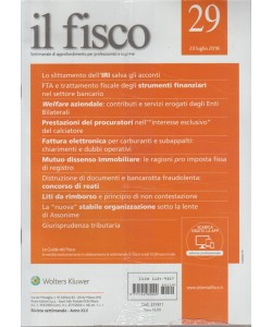 Il Fisco - n. 29 - 23 luglio 2018 - settimanale
