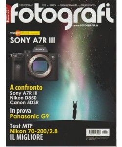 Tutti Fotografi - mensile n. 2 Febbraio 2018 - Sony A7R III