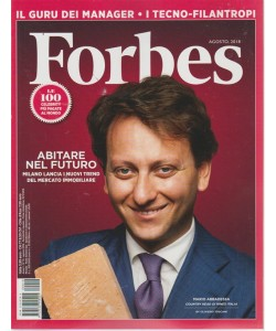 Forbes - n. 10 - agosto 2018 - mensile