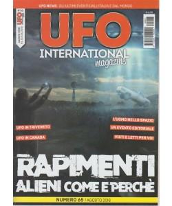 Ufo International magazine - n. 65 - agosto 2018 - mensile