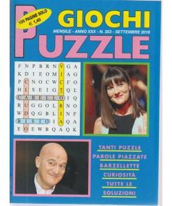 Giochi Puzzle - n. 353 - mensile - settembre  2018 - 100 pagine