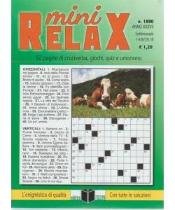 Mini Relax - n. 1890 - 14/8/2018 - settimanale