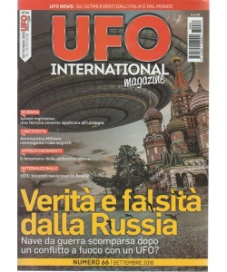Ufo International magazine - n. 66 - settembre 2018 -