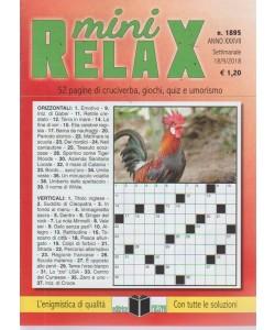 Mini relax - n. 1895 - settimanale - 18/9/2018 - 52 pagine di cruciverba, giochi, quiz e umorismo