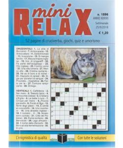 Mini Relax - n. 1896 - settimanale - 25/9/2018 - 52 pagine di cruciverba, giochi, quiz e umorismo